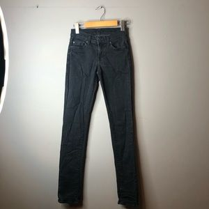 7 for all mankind Roxanne black jeans 26